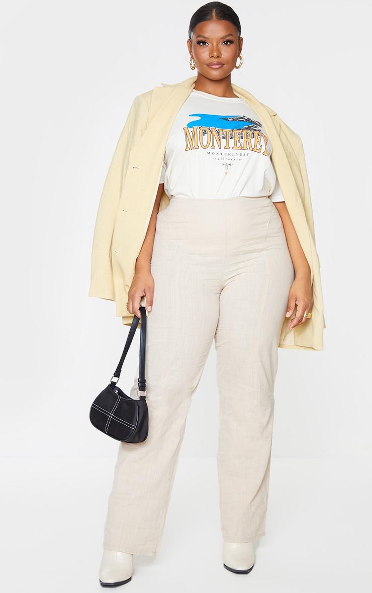 Plus Cream Monteray Print T Shirt 1