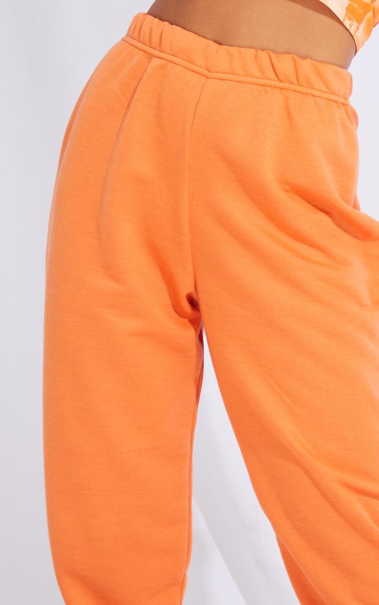 Petite Burnt Orange Basic Cuffed Hem Joggers 4