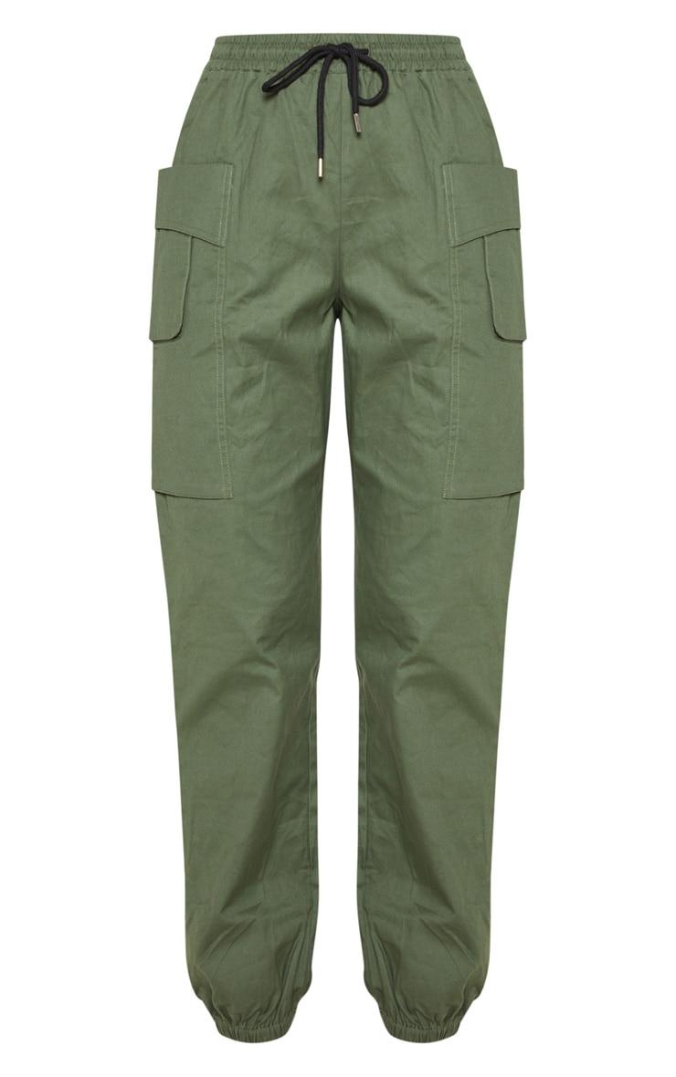 Dark Khaki Double Pocket Detail Cargo Pant 3