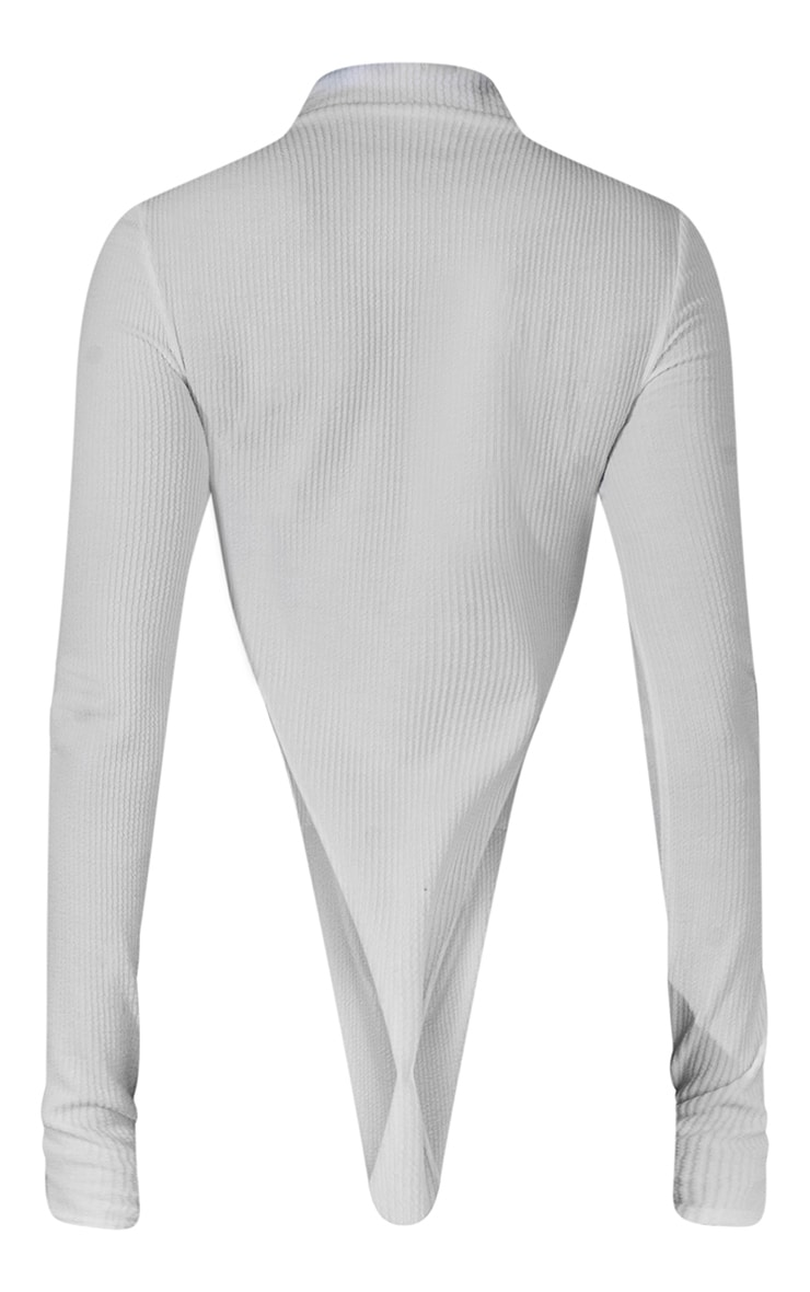 Off White High Neck Cut Out Bodysuit 7