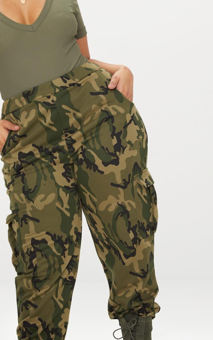 Plus Khaki Camo Pocket Detail Joggers 5