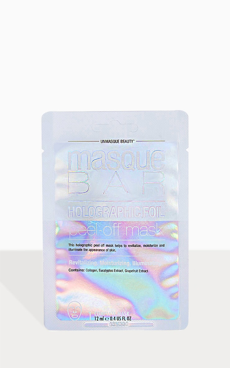 MasqueBar Holographic Foil Peel Off Mask