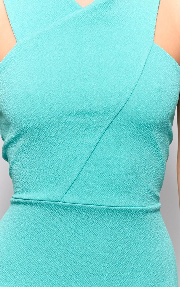 Allina Green V Detail Dress 4