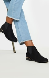 Black Wide Fit Chelsea Boot 1