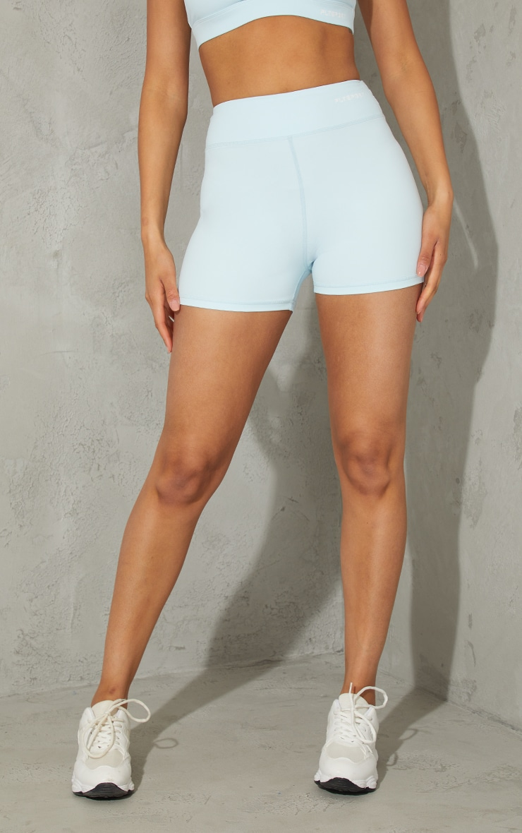 Baby Blue Sculpt Luxe Booty Shorts 2