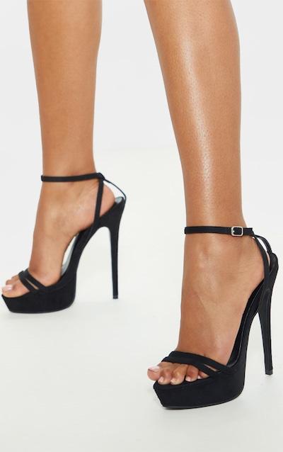High Platform Black Sandal