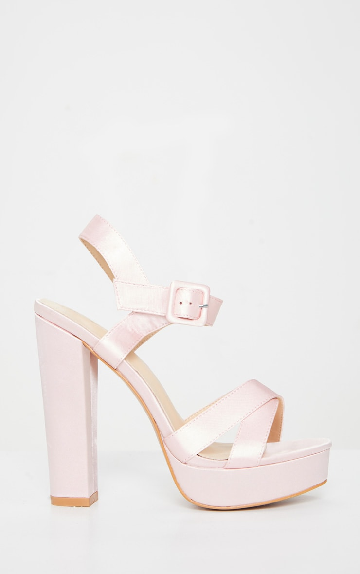 Nude Cross Strap Buckle Detail Platform Sandal 4