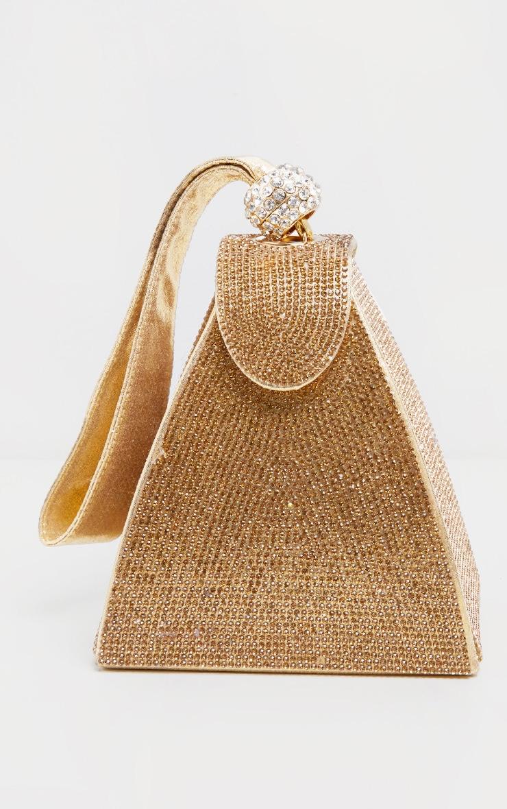 Gold Diamante Pyramid Mini Bag 2