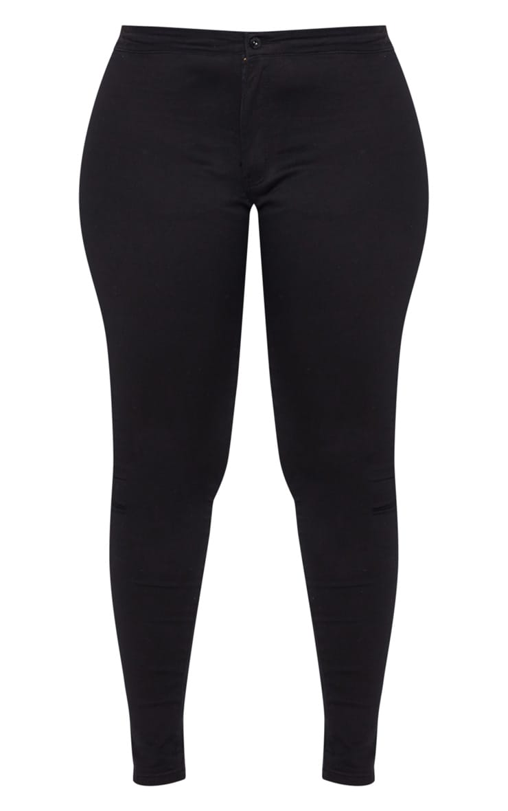 Plus Black High Waisted Skinny Jeans 3