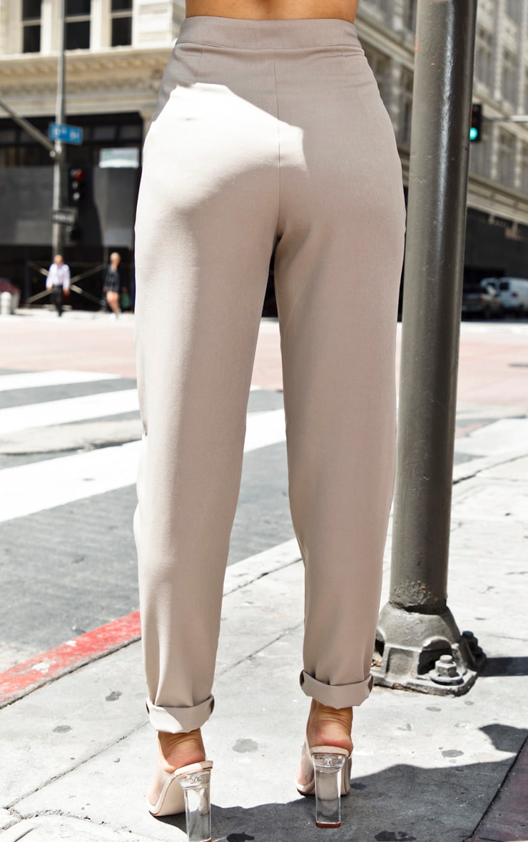 Petite Stone Multi Pocket Straight Leg Cargo Trouser 4