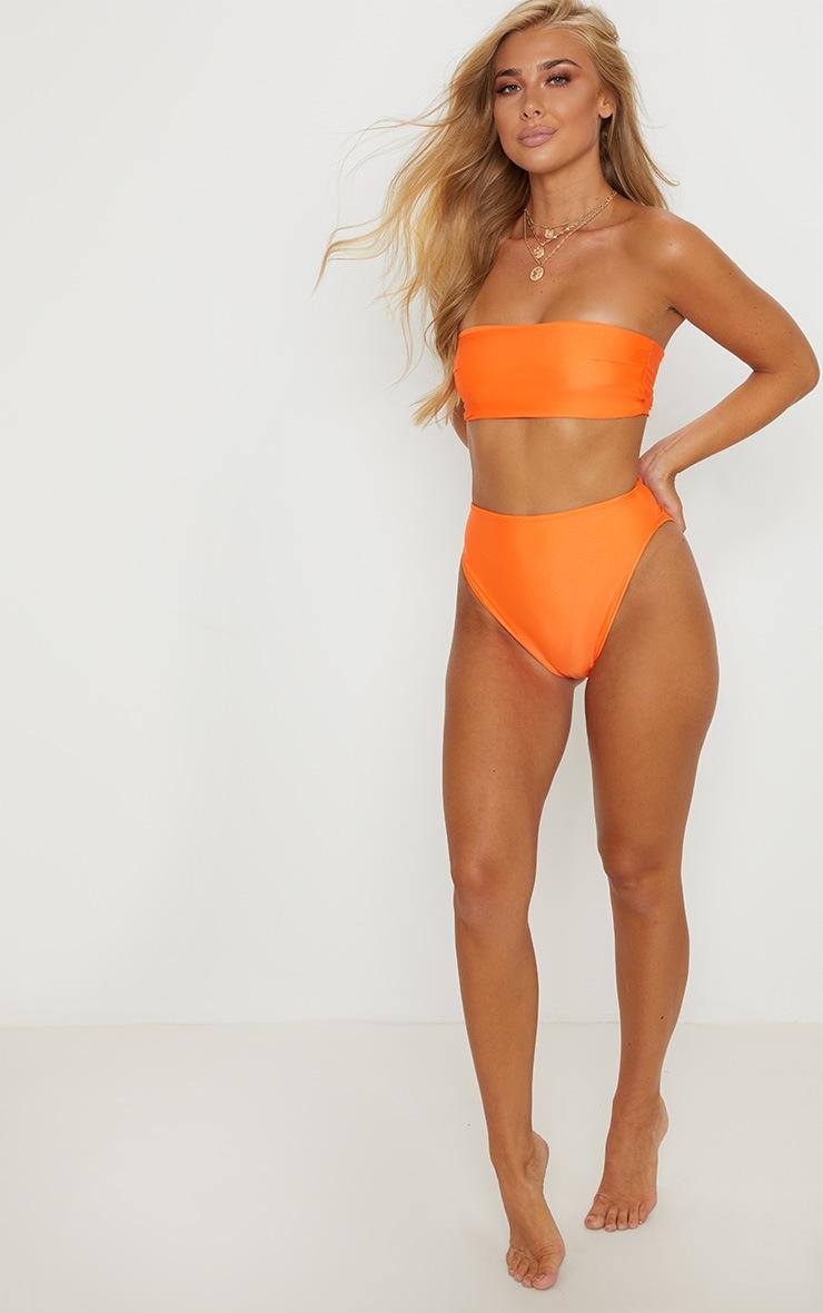 Orange Mix & Match Bandeau Bikini Top 4