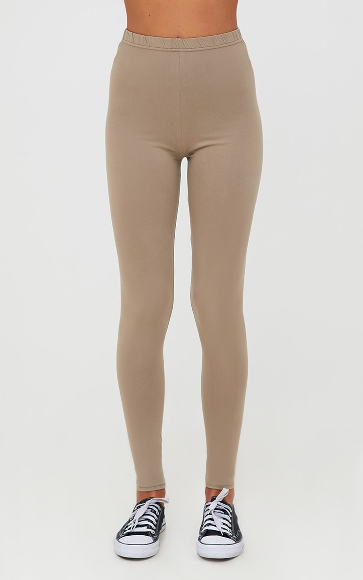Basic Navy and Taupe Jersey Leggings 2 Pack 6
