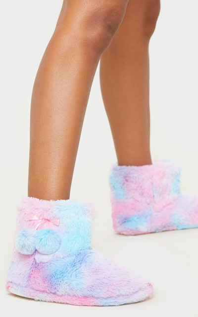 Rainbow Bootie Slipper