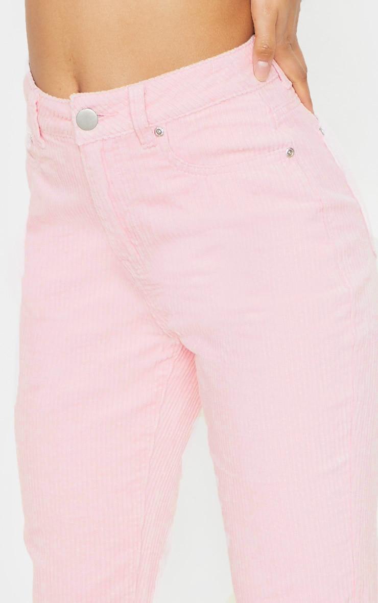 Pink Jumbo Cord Mom Jean 5