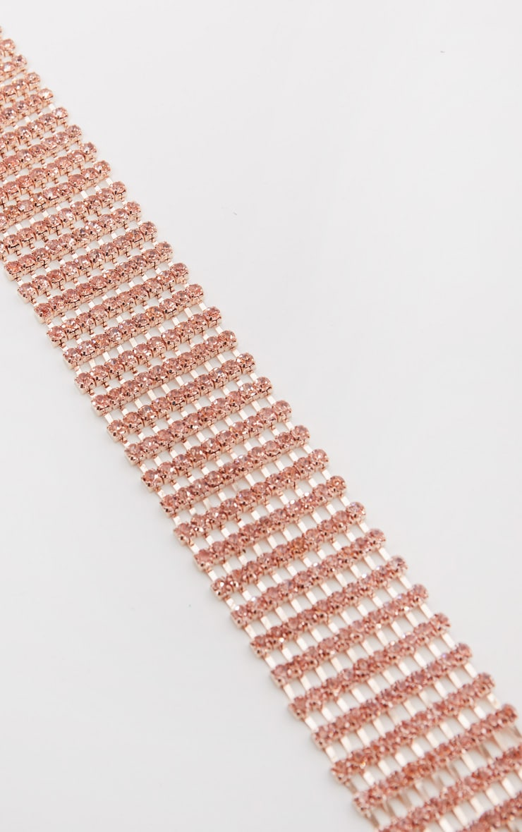 Rose Gold Diamante Chain Belt 2