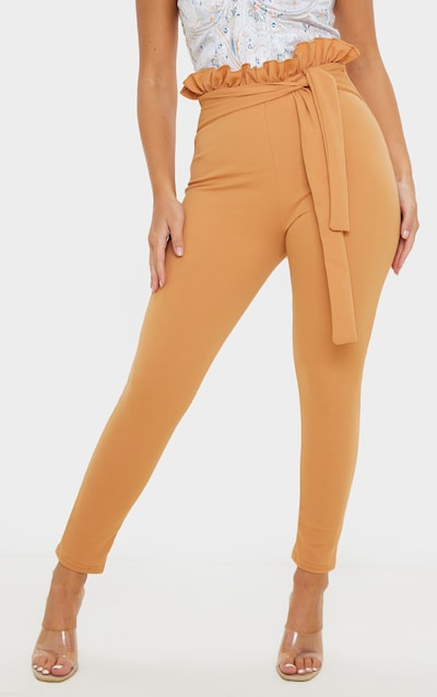 Biscuit Paperbag Skinny Trousers