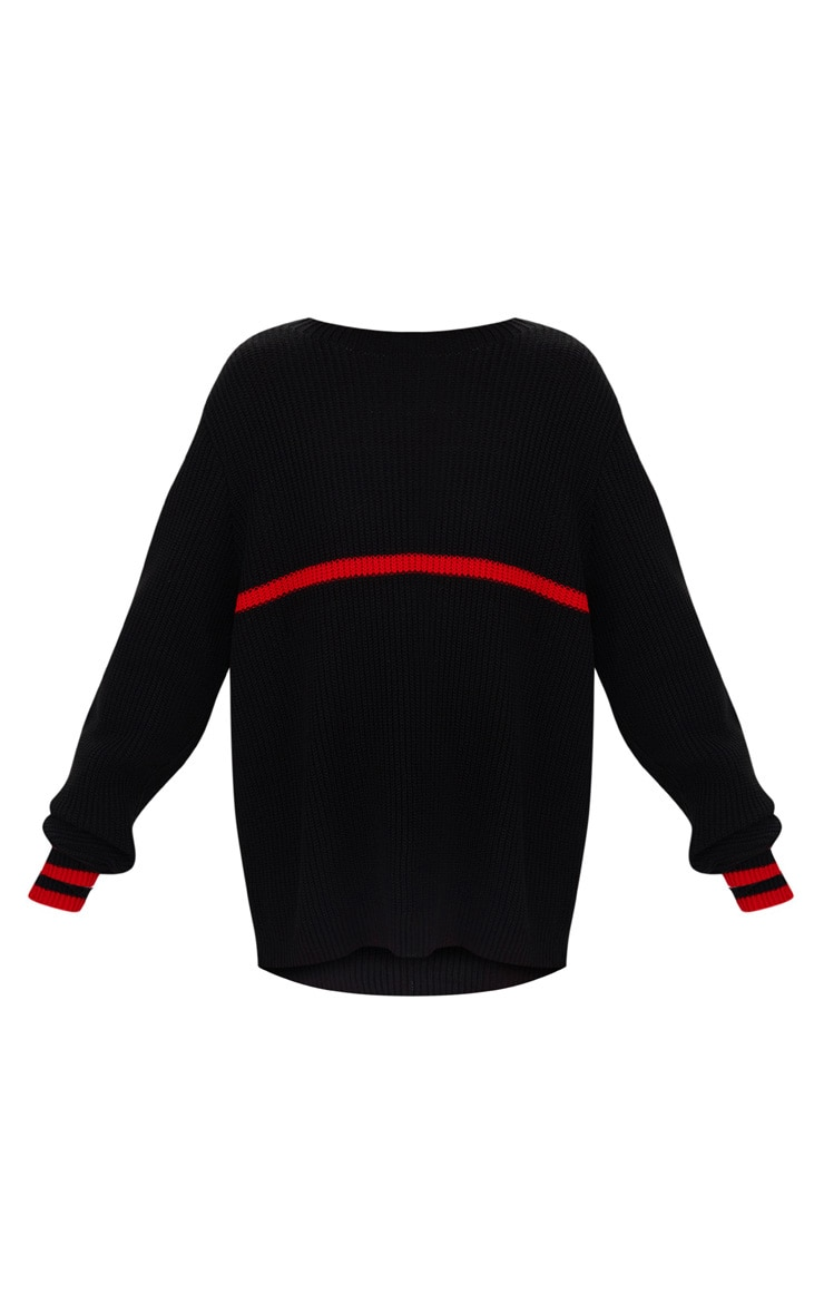 Black Stripe Detail Jumper 3
