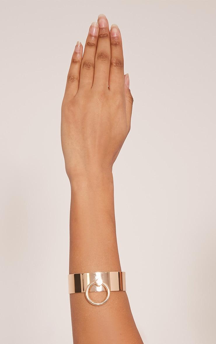 Marika Gold Ring Detail Metal Bracelet 1