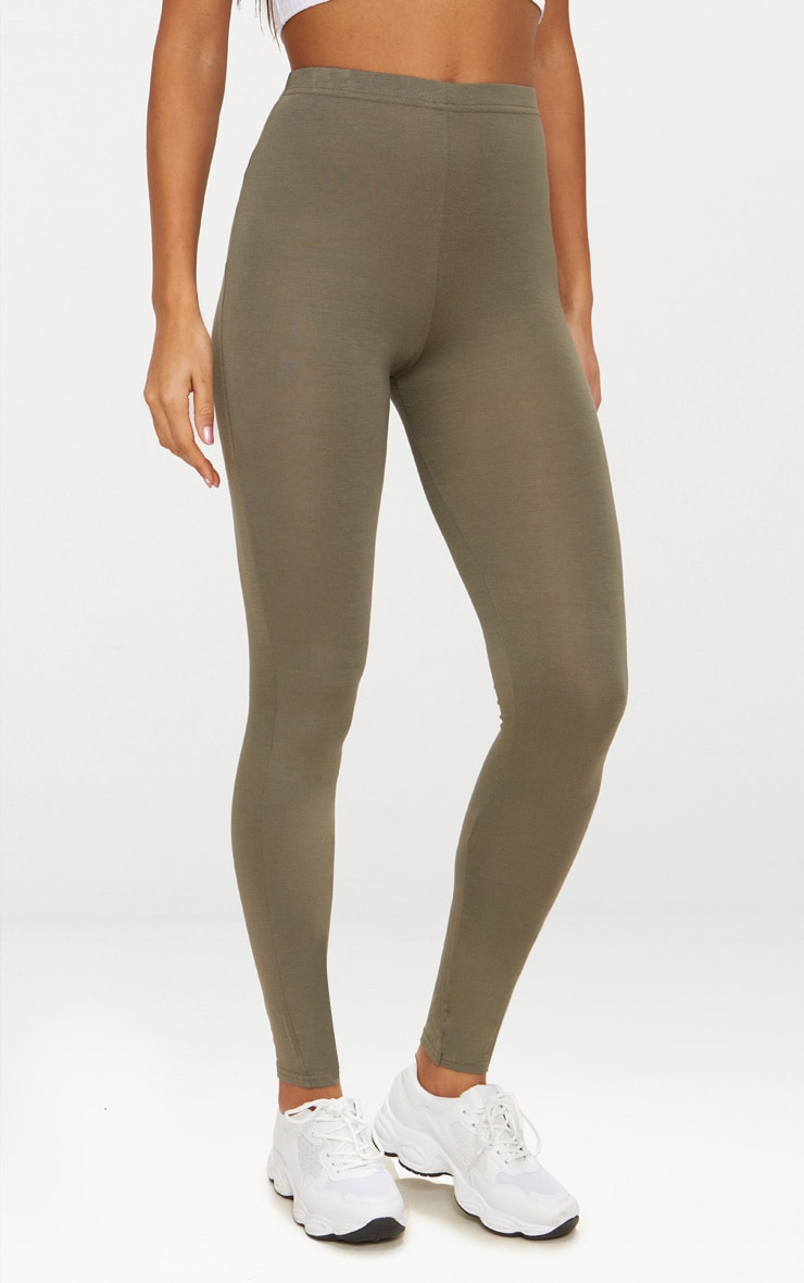 Basic Khaki Leggings 2