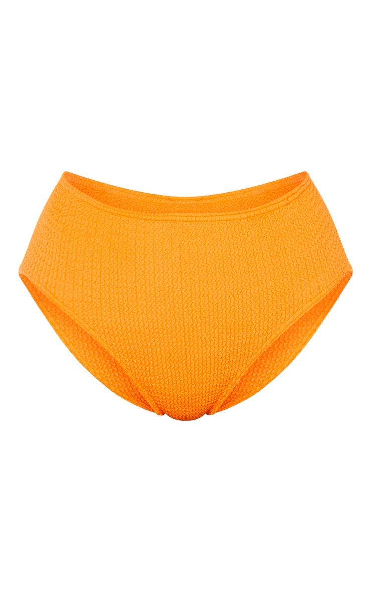 Orange Crinkle High Waist Bikini Bottom 7