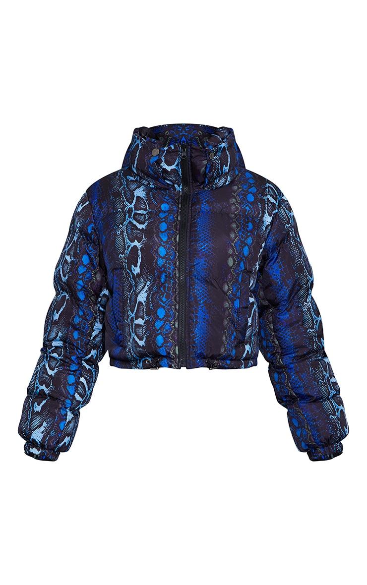 Blue Print Reversible Zip Up Puffer Jacket 5
