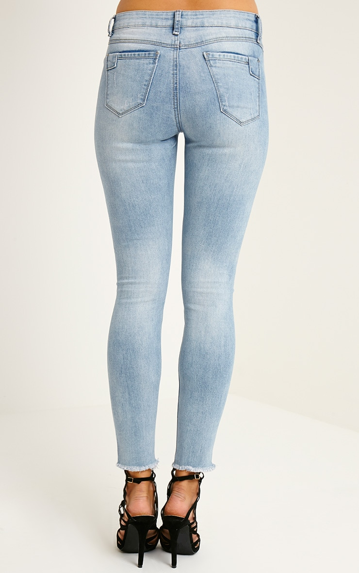 Marlo Light Blue Wash Distressed Jean 4