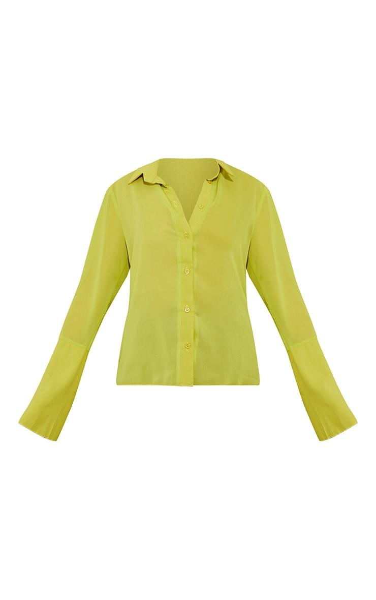 Lime Sheer Chiffon Shirt 5