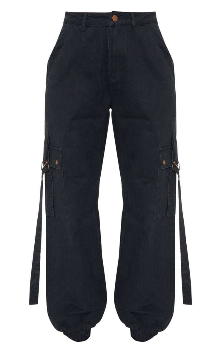 Black Cargo Pocket Utility Jean 3