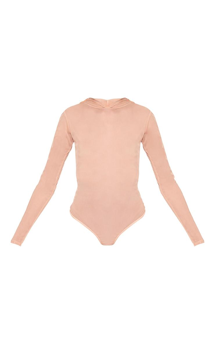 Lidya Nude Mesh Hooded Thong Bodysuit 3