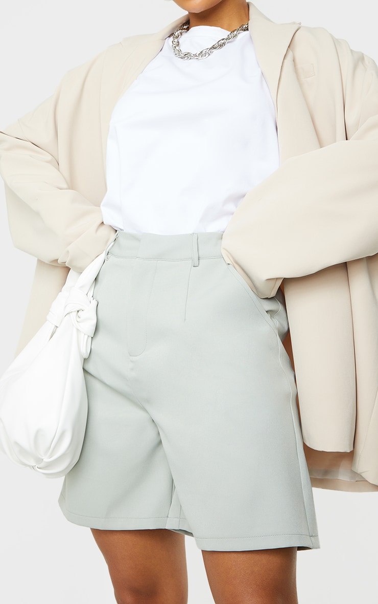 Soft Mint Woven Tailored Shorts 5