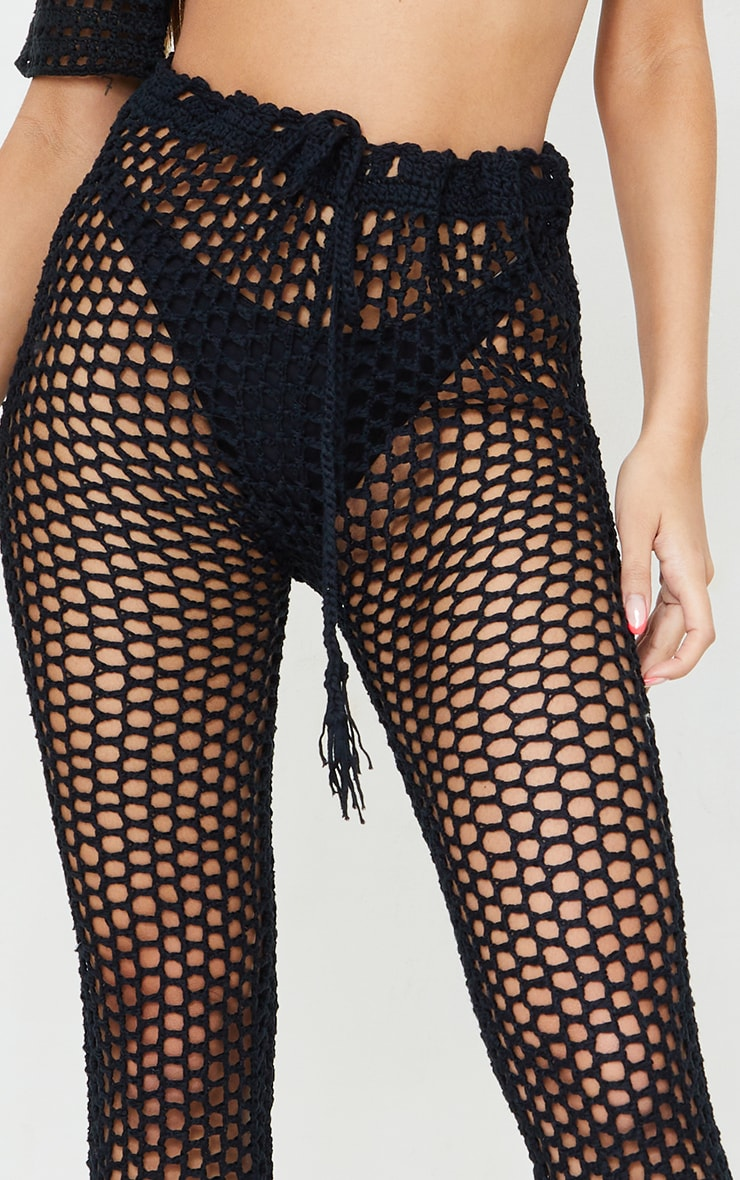 Black Crochet Trousers 4