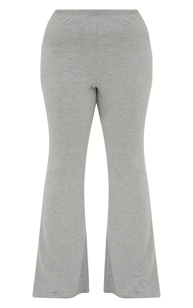 Plus Grey Marl Basic Flared Pants 3