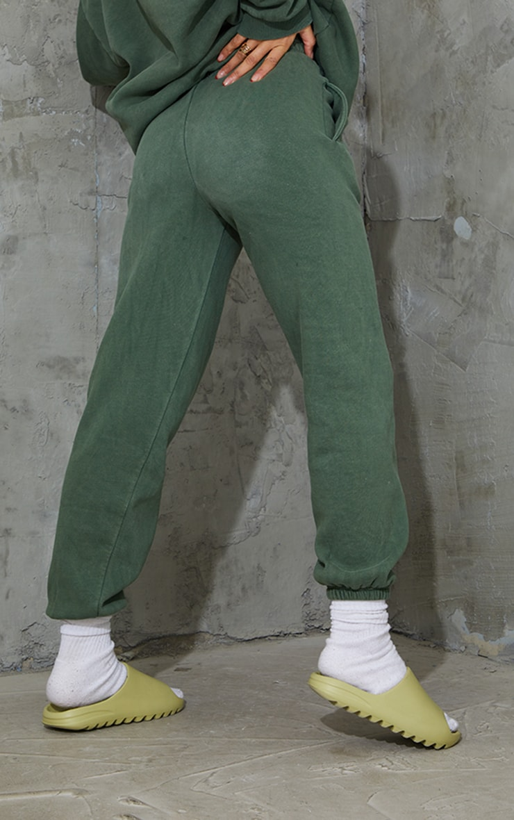 Green Washed Soho Town Printed Joggers 3