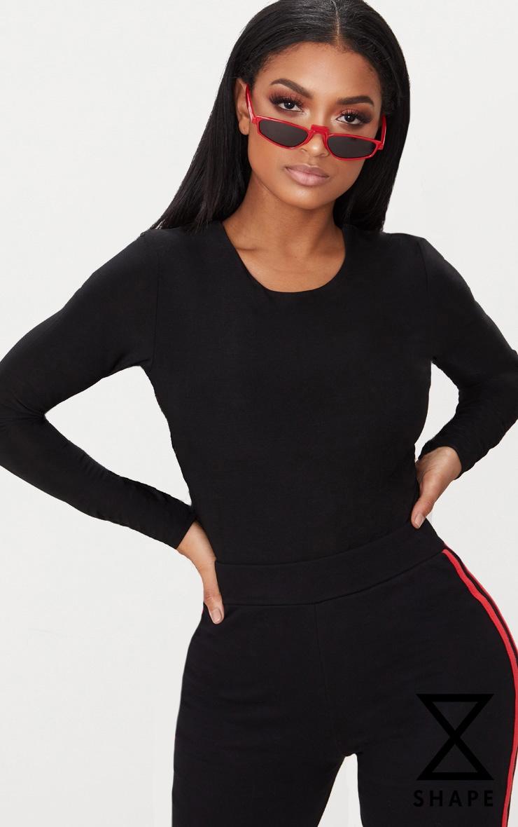 Shape Black Slinky Long Sleeve Bodysuit