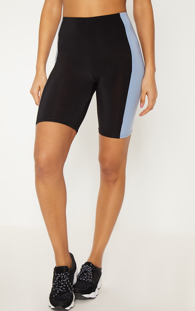 Black Slinky Side Panel Short 2