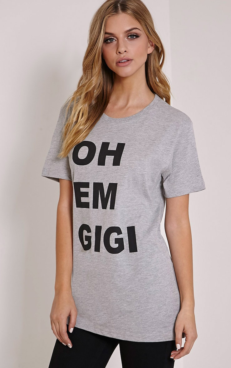 Oh Em Gigi Grey T Shirt 4