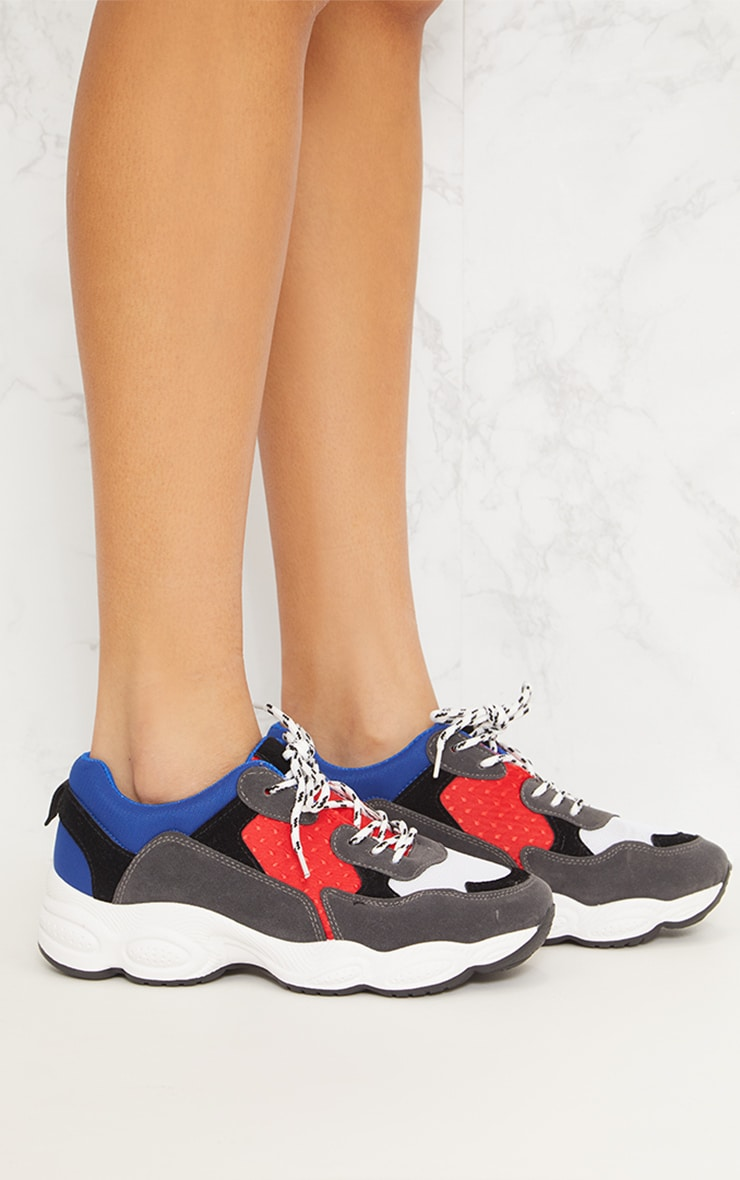 Blue Chunky Trainers 5