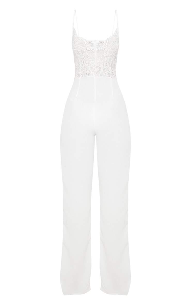 White Lace Wide Leg Jumpsuit 3