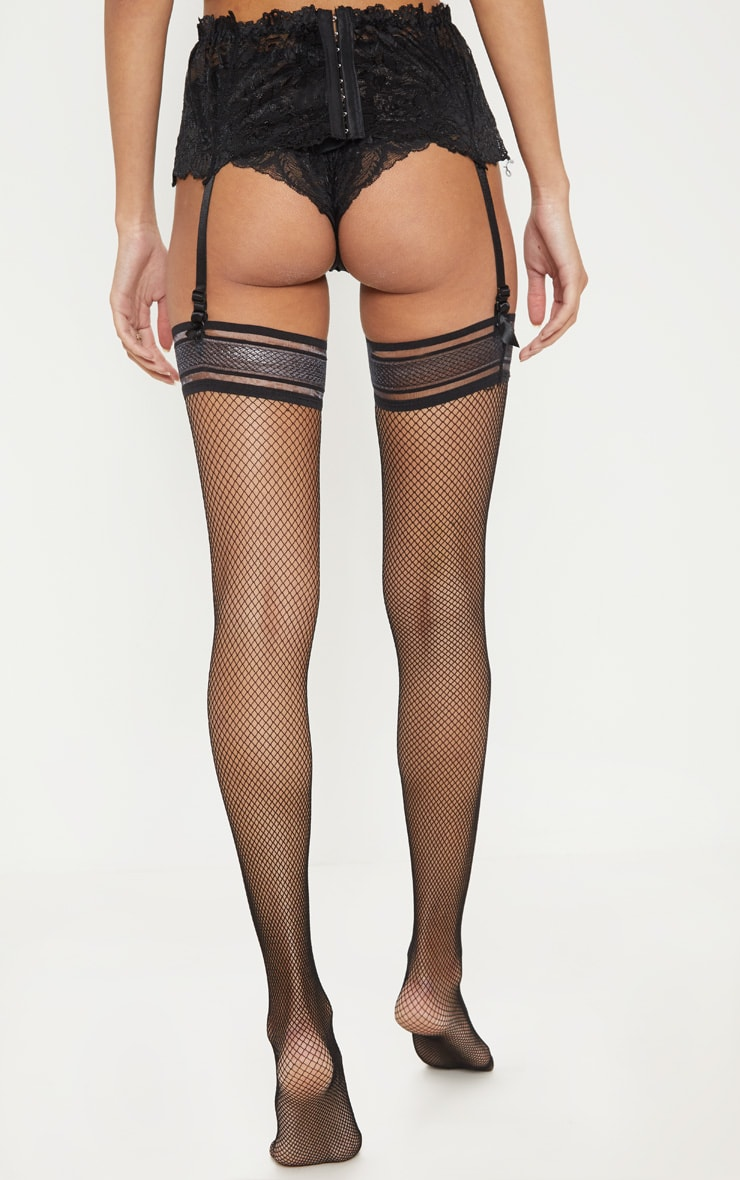 Black Wide Lace Suspender 2