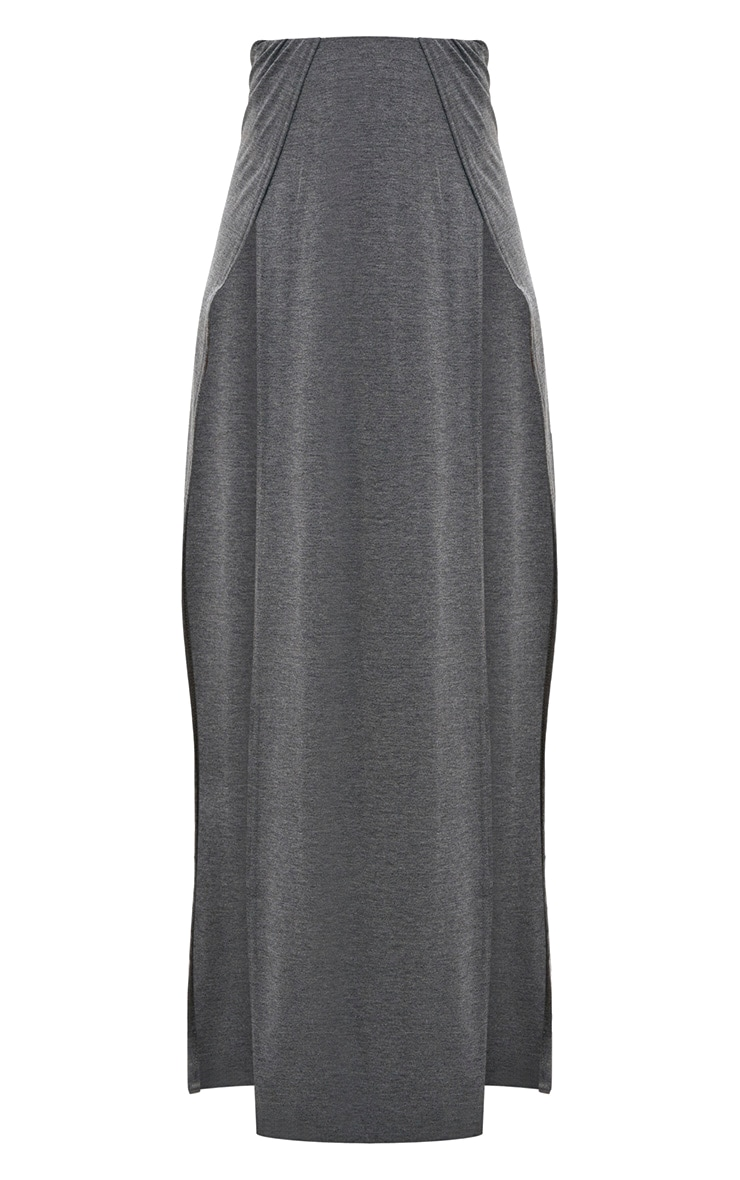Grey Double Split Maxi Skirt 3