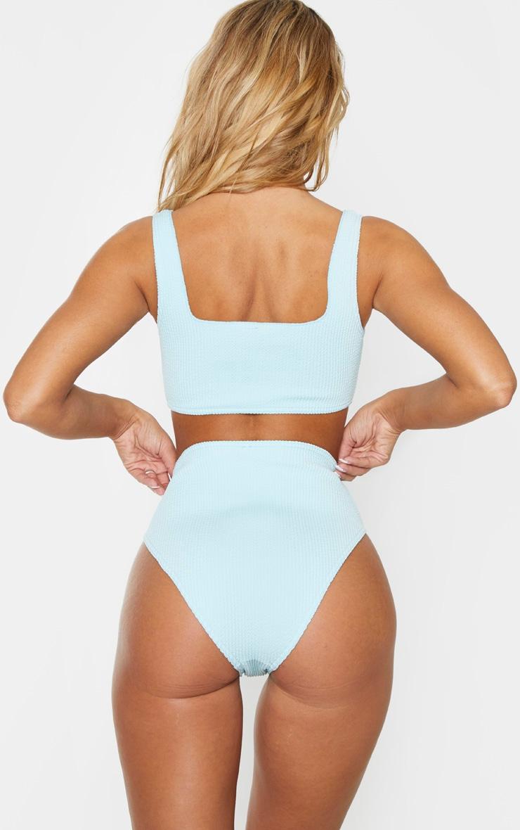 Mint High Waist Crinkle Bikini Bottom 3