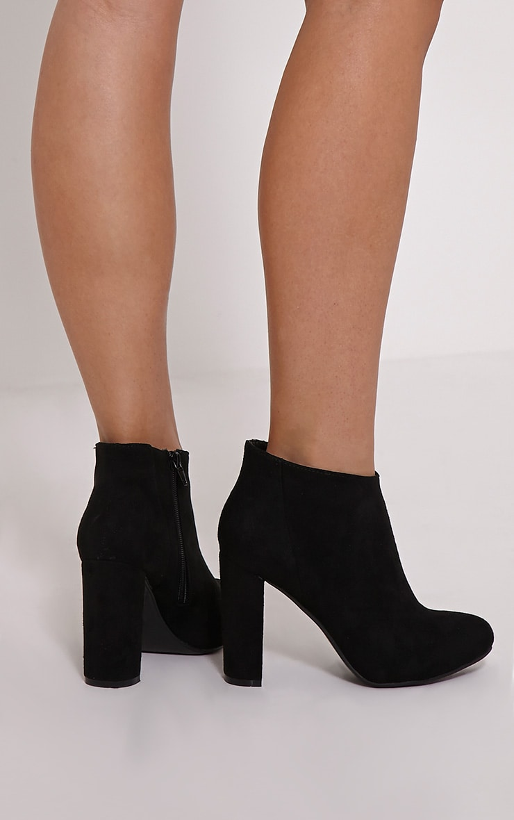 Roux Black Suede Ankle Boots 2