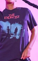 Black The Exorcist Halloween Print T Shirt 4