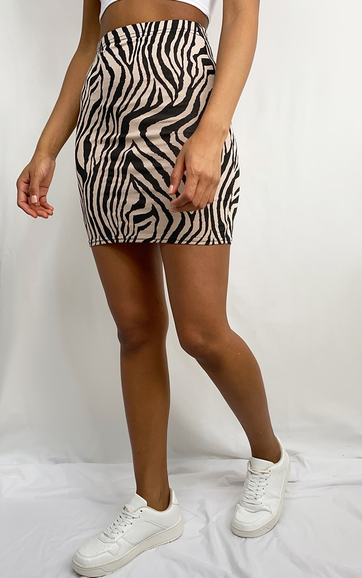 Black Zebra Basic Mini Skirt 2