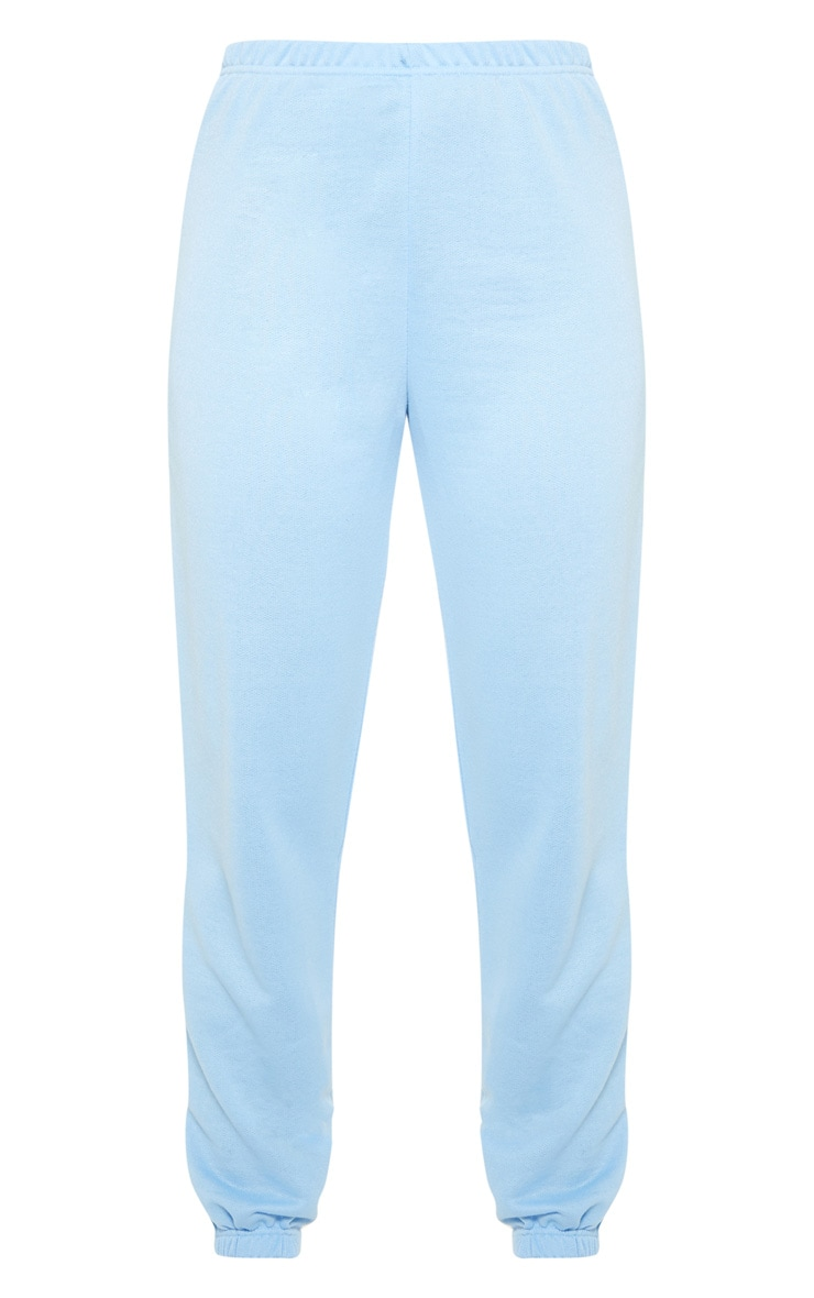 Baby Blue Basic Cuffed Hem Jogger 3