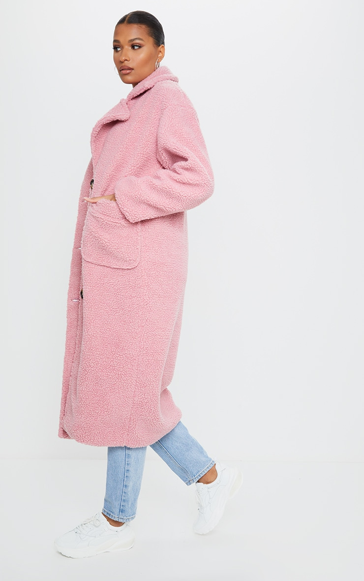 Rose Maxi Borg Coat 3