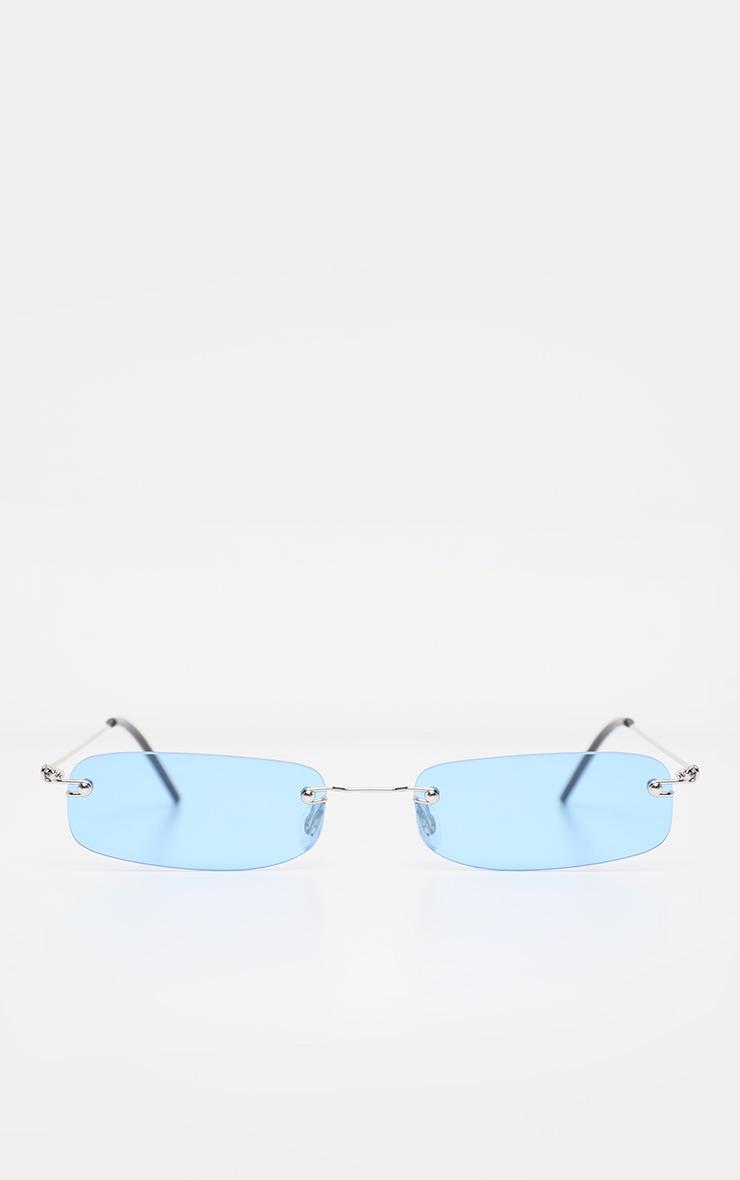 Blue Ultra Slimline Frameless Sunglasses  2