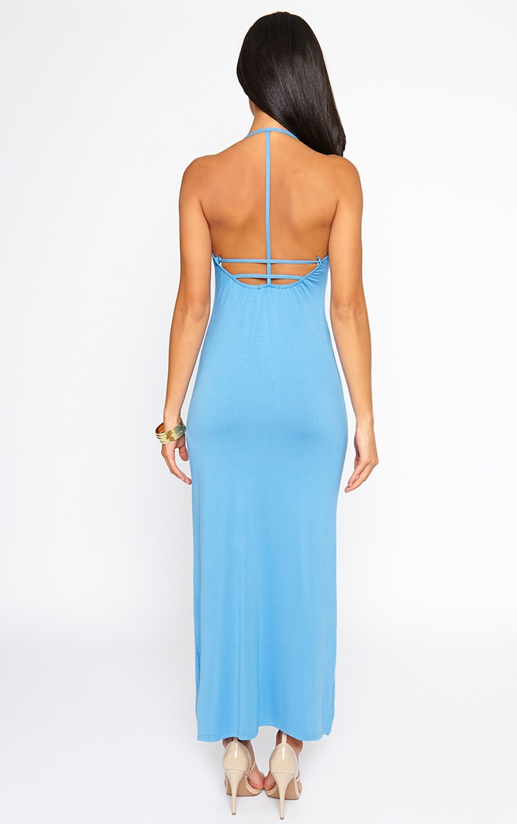 Kerry Blue Caged Back Maxi Dress 2