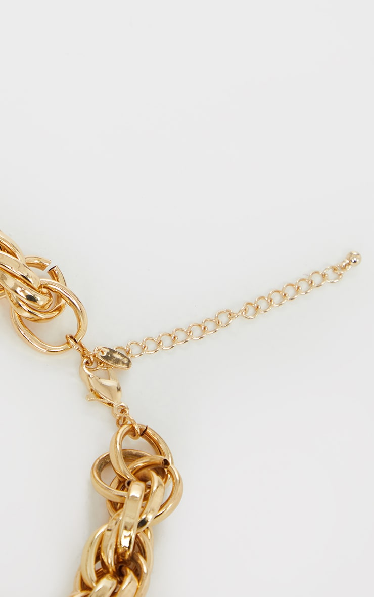 Gold Chunky Oversized Rope Chain Necklace 4