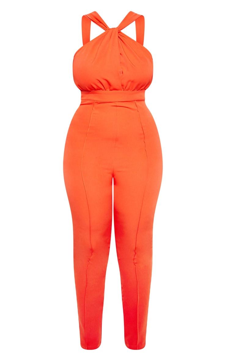 Orange High Neck Jumpsuit 4